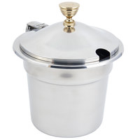 Bon Chef 5211WHC 10 5/8 inch x 8 1/4 inch Stainless Steel 7 Qt. Plain Design Soup Tureen with Hinged Cover