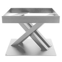 Elite Global Solutions 6 inch PC86 Rectangular Satin Nickel Metal Stand for M10 Melamine Shelves