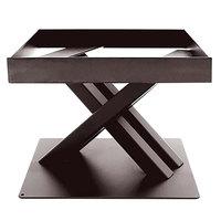 Elite Global Solutions 6 inch PC86 Rectangular Brown Metal Stand for M10 Melamine Shelves