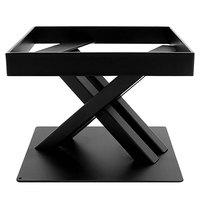 Elite Global Solutions 6 inch PC86 Rectangular Black Metal Stand for M10 Melamine Shelves