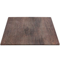 Elite Global Solutions M10 Fo Bwa Square Faux Walnut Melamine Shelf - 10 inch x 10 inch x 5/8 inch