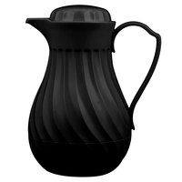 Vollrath 52140 SwirlServe Tilt & Pour 1.24 Liter Black Beverage Server