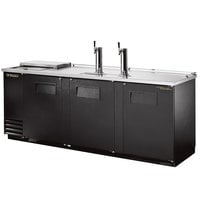 True TDD-4CT 90 inch Four Keg Club Top Kegerator Beer Dispenser with Two Taps