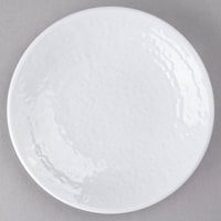 Elite Global Solutions D638RR Pebble Creek White 6 3/8 inch Round Plate