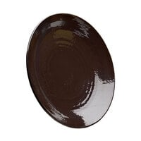 Elite Global Solutions D117RR Pebble Creek Aubergine-Colored 11 7/8 inch Round Plate