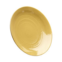 Elite Global Solutions D638RR Pebble Creek Olive Oil-Colored 6 3/8 inch Round Plate