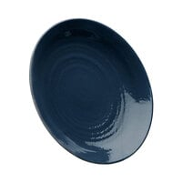 Elite Global Solutions D638RR Pebble Creek Lapis-Colored 6 3/8 inch Round Plate