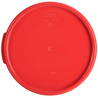 Carlisle 1077205 Red Lid for 6 & 8 Qt. Round StorPlus Container