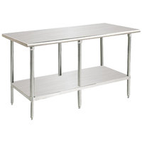 Advance Tabco MS-308 30 inch x 96 inch 16 Gauge Stainless Steel Commercial Work Table with Stainless Steel Undershelf
