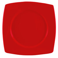CAC R-SQ8R Clinton Color 8 7/8 inch Red Round in Square Plate - 24/Case