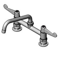 Equip by T&S 5F-8DWX08 Deck Mount Faucet with 8 inch Adjustable Centers, 8 inch Swing Nozzle, and 4 inch Wrist Action Handles