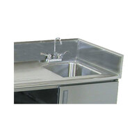 Advance Tabco TA-32 10 inch Side Splash for Table Tops