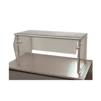 Advance Tabco Sleek Shields NSG-12-132 Single Tier Self Service Food Shield with Stainless Steel Shelf - 12 inch x 132 inch x 18 inch
