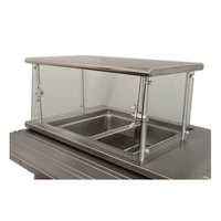 Advance Tabco Sleek Shield NSGC-18-132 Cafeteria Food Shield with Stainless Steel Shelf - 18 inch x 132 inch x 18 inch