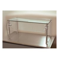 Advance Tabco Sleek Shield GSG-12-36 Single Tier Self Service Food Shield with Glass Top - 12 inch x 36 inch x 18 inch