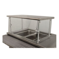 Advance Tabco Sleek Shields NSGC-15-144 Cafeteria Food Shield with Stainless Steel Shelf - 15 inch x 144 inch x 18 inch