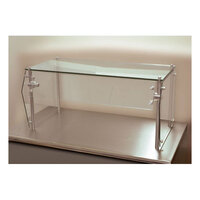 Advance Tabco Sleek Shield GSG-12-84 Single Tier Self Service Food Shield with Glass Top - 12 inch x 84 inch x 18 inch