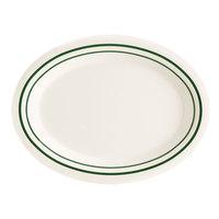 GET OP-120-EM Emerald 12 inch Oval Platter - 12 / Case