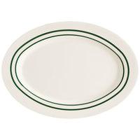 GET M-4020-EM Emerald 14 inch Oval Platter - 12 / Case