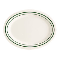 GET OP-950-EM Emerald 9 3/4 inch Oval Platter - 24 / Case