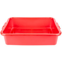 Vollrath 1521-C02 Perforated Drain Box - Traex Color-Mate Red 20 inch x 15 inch x 5 inch