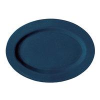 GET M-4020-TB Texas Blue 14 inch Oval Platter - 12/Case