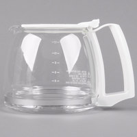 Proctor Silex 88180Y Glass 12 Cup Replacement Carafe with White Handle