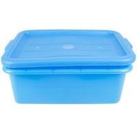 Vollrath 1505-C04 Blue Polypropylene 20 inch x 15 inch x 7 inch Food Storage Combo Set with Standard Lid