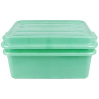 Vollrath 1535-C19 Green 20 inch x 15 inch Polypropylene Food Storage Combo Set with Snap-On Lid