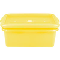 Vollrath 1507-C08 20 inch x 15 inch x 7 inch Yellow Polypropylene Food Storage Combo Set with Standard Lid