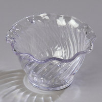 Carlisle 453207 Clear Polycarbonate 5.4 oz. Tulip Berry Dish - 24/Case