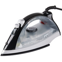 Hamilton Beach HIR200B Black Non-stick Hospitality Iron, Steam & Dry with Auto Shut Off - 120V, 1200W