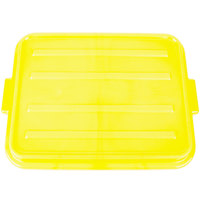 Vollrath 1500-C08 Snap-On Food Storage Box Lid - Traex Color-Mate Yellow 20 inch x 15 inch x 2 1/2 inch
