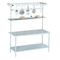 Advance Tabco SWT-108 Smart Fabrication 108 inch Rear or Splash Mount Stainless Steel Pot Rack / Utensil Rack