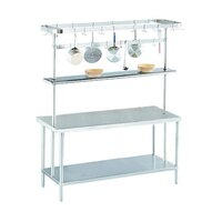 Advance Tabco SCT-96 Smart Fabrication 96 inch Middle Mount Stainless Steel Pot Rack / Utensil Rack