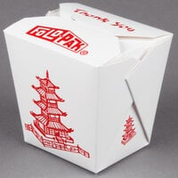Fold-Pak 32MWPAGODM 32 oz. Pagoda Chinese / Asian Microwavable Paper Take-Out Container - 450/Case
