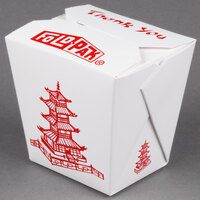Fold-Pak 26MWPAGODM 26 oz. Pagoda Chinese / Asian Microwavable Paper Take-Out Container - 450/Case