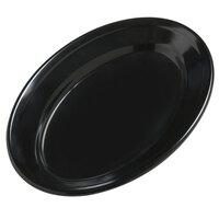 Carlisle 4387203 9 1/4 inch x 6 1/4 inch Black Dayton Oval Platter 24 / Case
