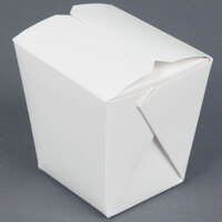 Fold-Pak 08MWWHITEM 8 oz. Microwavable White Take-Out Container 450 / Case