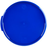 Carlisle 1077360 Blue Lid for 12, 18, 22 Qt. Clear Round Containers