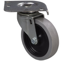 Carlisle 4 inch Replacement Non-Mark Swivel Plate Caster for Carlisle C220A, C2222A, DL300, and DL1826 Dollies