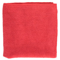 16 inch x 16 inch Red Microfiber Cleaning Cloth - 12 / Pack