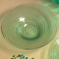 American Metalcraft Glacier GBG19 Recycled Green Glass Bowl - 18 1/2 inch x 3 1/2 inch