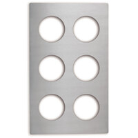 Vollrath 8241914 Miramar Stainless Steel Adapter Plate for Six 1.25 Qt. Bain Marie Pots