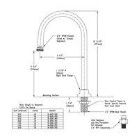 T&S B-0520-F10 Deck Mount Rigid Dummy Gooseneck with 0.9 GPM Stream Regulator