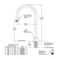 T&S B-0520-F20 Deck Mount Rigid Dummy Gooseneck with 2.0 GPM Stream Regulator