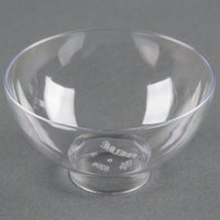 Fineline Tiny Temptations 6208-CL 2 oz. Clear Plastic Tiny Bowl - 10/Pack