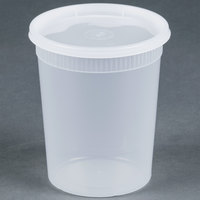 Newspring YSD2532 32 oz. Translucent Round Deli Container Combo Pack - 240 / Case