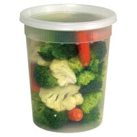 Newspring YSD2532 32 oz. Translucent Round Deli Container Combo Pack 240 / Case