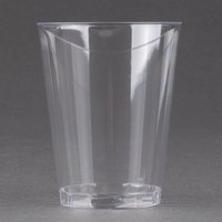 Fineline Savvi Serve 408 8 oz. Tall Clear Hard Plastic Tumbler 20 / Pack
